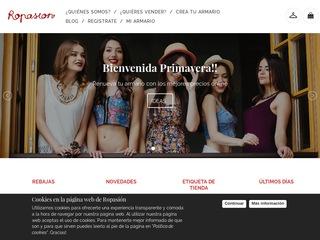 ab81b22930f ropasion.es - Página web consolidada en venta en DuaBid  Tienda ...